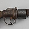 A mid 19th century percussion revolver by bishop & day, london.