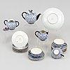 """Teaservice, porcelain, 16 pcs """"cobalt net"""", lomonosov, soviet union."""