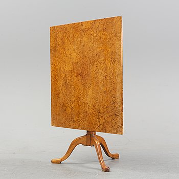 A Swedish tilt top table, first half of the 19th Century.