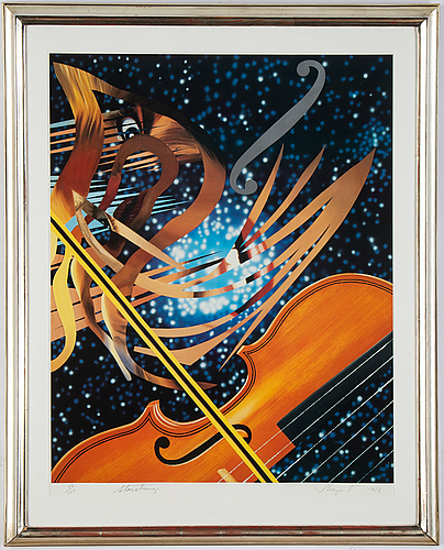 James rosenquist, off-set in colours with silkscreen, 1988, signed 77/100.