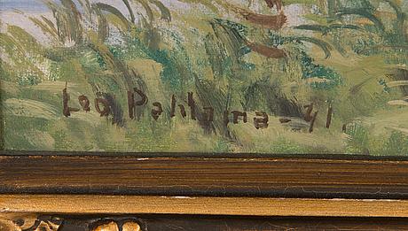 Leo pahlama, öljy kankaalle, signeerattu ja päivätty -41.