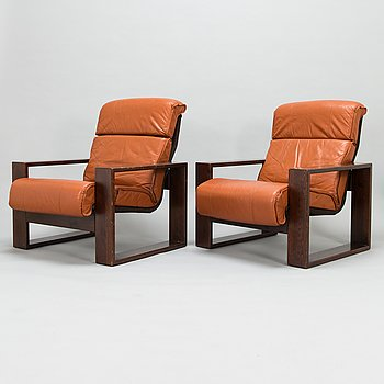 A pair of 1970's armchairs for Peem Oy.