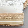 Prada, a pair of white leather brogues, size 36.