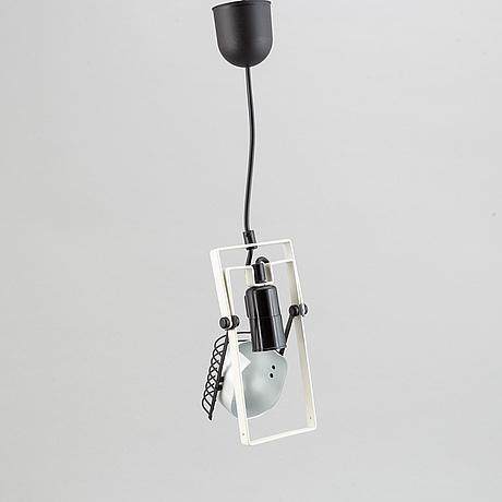 Ernesto gismondi, a metal 'sintesi' ceiling light for artemide, 1980's.