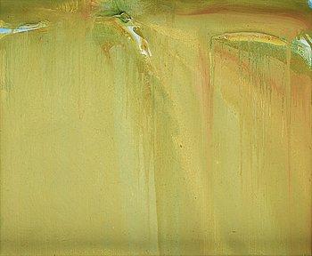"""637. Olivier Debré, """"Verte jaune le chemin (Touraine)""""."""