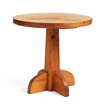 "313. Axel Einar Hjorth, a stained pine ""Lovö"" table, Nordiska Kompaniet, Sweden 1930's."