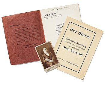 487. Exhibition catalogues from Der Sturm (2) and a photo depicting Gösta Adrian-Nilsson (GAN).