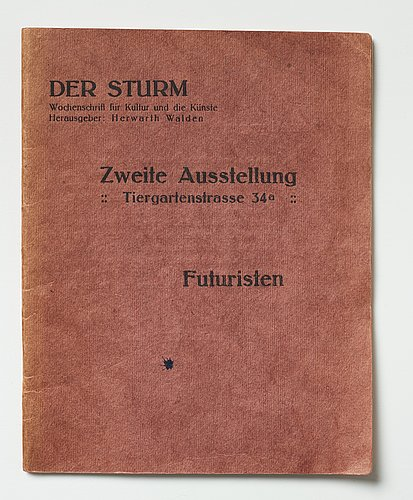Exhibition catalogues from der sturm (2) and a photo depicting gösta adrian-nilsson (gan).