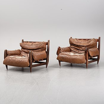 A pair of rosewood lounge chairs by Jean Gillon, 1960's.