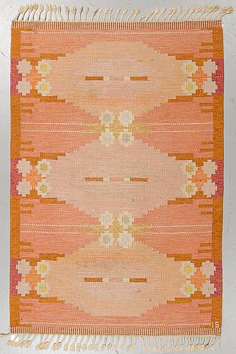 Ingegerd silow, a carpet, flat weave, ca 204 x 138 cm, signed is.