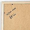 Jenni porkka, c-print på kapaskiva, signerad och numrerad 14/100, 2020 a tergo.