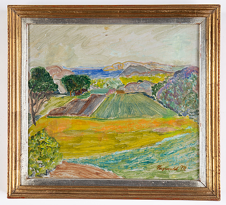 Ragnvald magnusson, oil on paper/papaer-panel, signed.