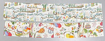Josef Frank, two cotton curtains, 'Primavera' and 'Vegetable Tree', Svenskt Tenn.
