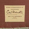 """Carl malmsten, fåtölj, """"hemmakväll"""", oh sjögren, 1900-talets slut."""