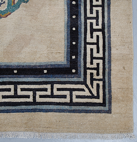 Matto, semi-antique/old tibet, ca 365 x 281 cm.