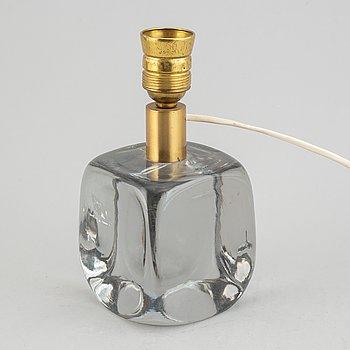 Bordslampa, glas, 1900-talets mitt.