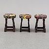 Three stools, first half of the 20th century.