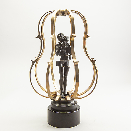 Fernandez arman, a bronze sculpture signed and numbered 7/100.