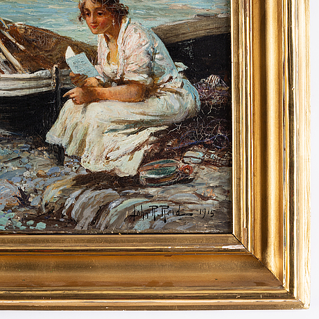 John robertson reid, oil on canvas, signed and dated 1915.