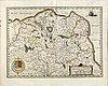 Jodocus hondius, hand colored engraving, map france pas-de-calais, amsterdam c 1630-50.