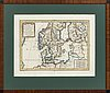 Jean baptiste nolin, map hand colored cupper engraving, 1758.