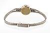 Ladies wristwatch rox, 18k whitegold  single-cut diamonds approx 0,44 ct in total, 14 mm, manual.