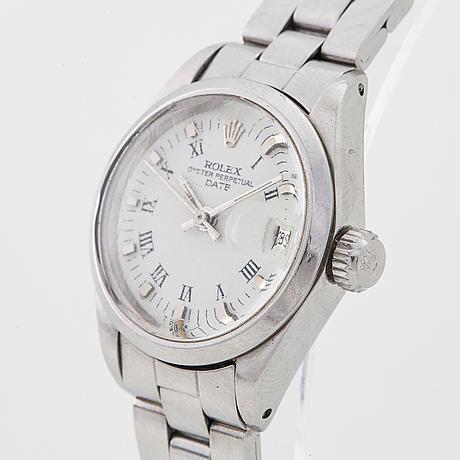 Rolex, oyster perpetual, date, wristwatch, 25 mm.