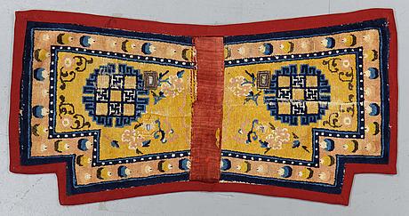 Sadeltäcke, antik, ningxia, ca 142 x 70 cm.