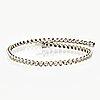 Tennis bracelet 18k whitegold, brilliant-cut diamonds approx 1,20 ct, length approx 18 cm, total weight 7,8 g.
