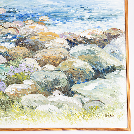 Anita erséus, oil on canvas, signed.