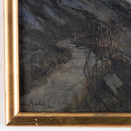 Anna gardell-ericson, watercollour, signed.