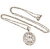 Pendant and chain, 18k whitegold, brilliant and baguette-cut diamonds approx 0,75 ct in total.