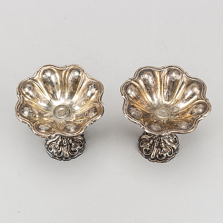 A pair of swedish silver bowls, mark of august friedrich krollpfeifer, helsingborg 1872.