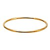 Bangle 18k gold, 23,6 g, inner circumference approx 19 cm, does not open.