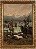 Unknown artist, 19th century, oil on canvas, signed fj carlton.