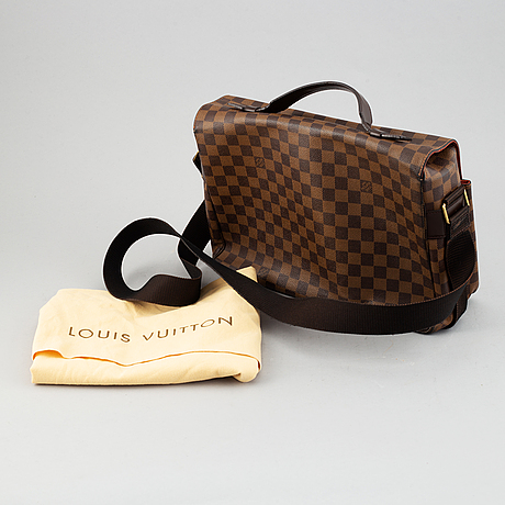 Louis vuitton, a damier ebene 'broadway' cross body bag, 2001.