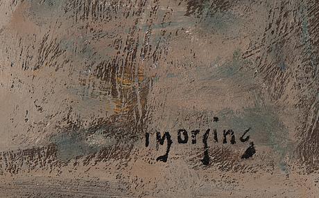 Ivar morsing, oil on canvas, signed.