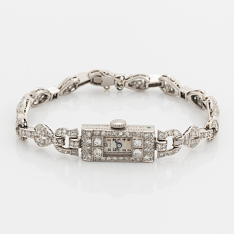 Diamond art déco ladies watch.