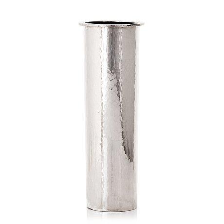 Bo klevert, a sterling silver vase, stockholm 1994.
