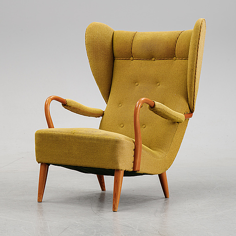 A swedish modern armchair, 1940's.