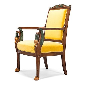 A French, Empire style armchair, around 1820s.