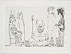 """Pablo picasso, 6 etchings from: """"le cocu magnifique""""."""