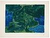 "Serge poliakoff, ""composition bleue et verte""."