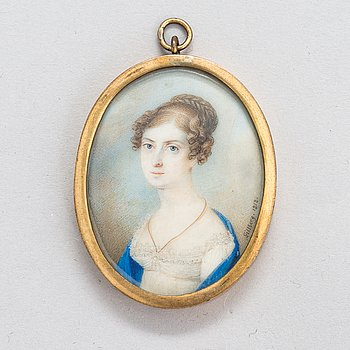 Jacob Axel Gillberg, Miniature. Signed and dated 1818.