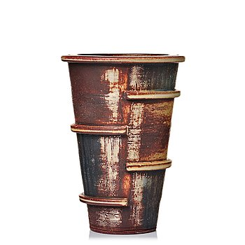 "74. Wilhelm Kåge, a ""Farsta"" stoneware vase, Gustavsberg studio, Sweden 1957."