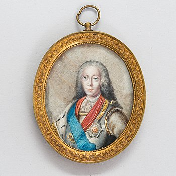 Unknown Russian artist 19th Century. Miniature. Unsigned.
