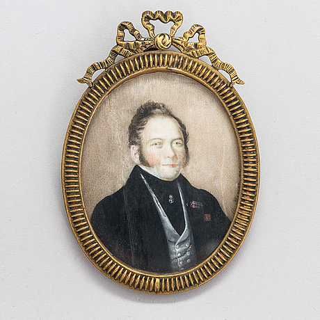 Ivan mikhaylovich zheren, russian miniature. signed and dated 1836. russia.