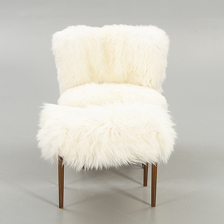 Armchair and footstool, 1950s-1960s.
