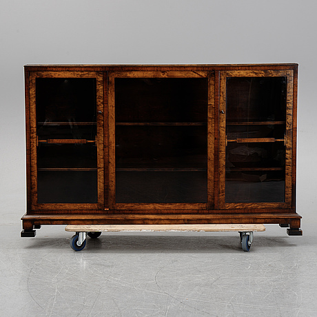 A birch display cabinet, swedish grace, first half of the 20th century.
