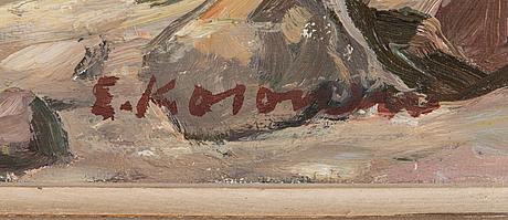 Erkki kosonen, oil on canvas, signed.
